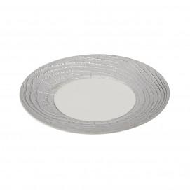 Assiette plate - Argent ou Or véritable - Diam. 31 cm