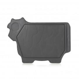 Assiette boeuf - Noir brut - 37,4 x 27.2 cm