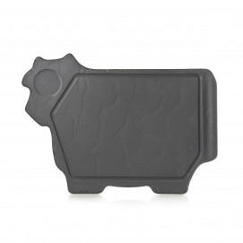 cow plate - matt slate style - 37,4 x 27.2 cm