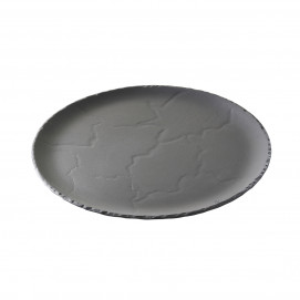 Assiette ronde - Noir brut - Diam. 20 cm
