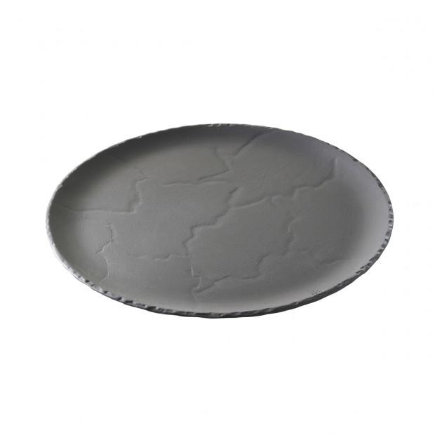 Round plate - Black - Diam. 20 cm