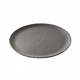 round plate - matt slate style