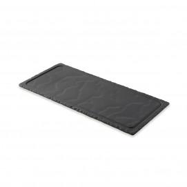 Plateau rectangulaire - Noir brut - 36 x 16 x 0.7 cm