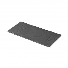 rectangular tray - matt slate style