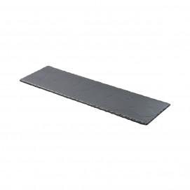 Plaque 2/4 norme gastro - Noir brut - 54 x 16,5 cm