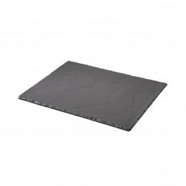 Plaque 1/2 norme gastro - Noir brut - 32,5 x 26,5 cm