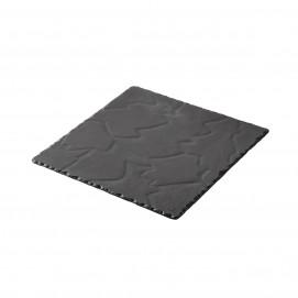 Assiette carrée - Noir brut