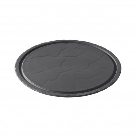 steak plate - black - Diam. 30 cm