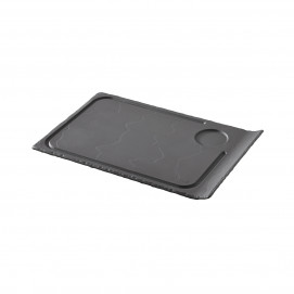 steak plate 1 curved edge - black - 33 x 22 cm
