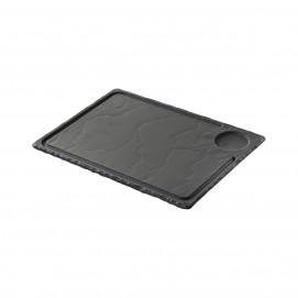 Steak plate - Black - 33 x 24 cm