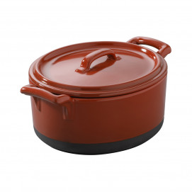 cocotte with lid - 13.5 x 12.2 x 8 cm