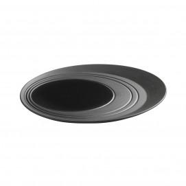 round plate tray - black cast-iron effect - Diam.  28 cm