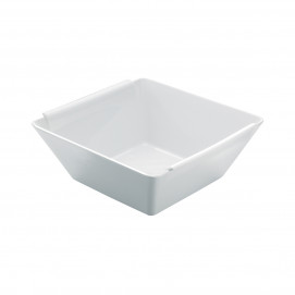 square salad bowl - white