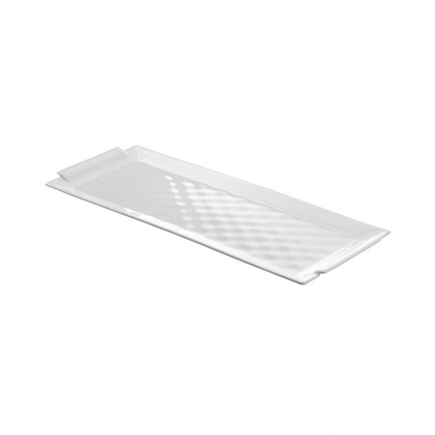 rectangular tray - white
