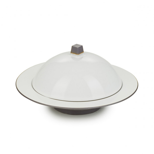 dim sum set (cloche/deep plate)