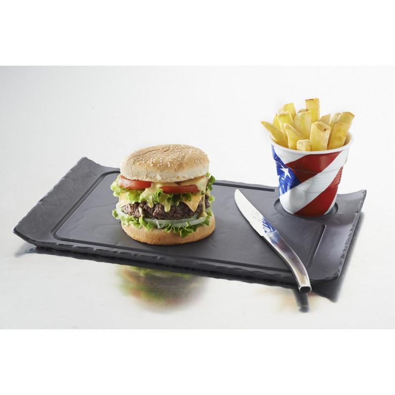 Ceramic Burger Gourmet Plate