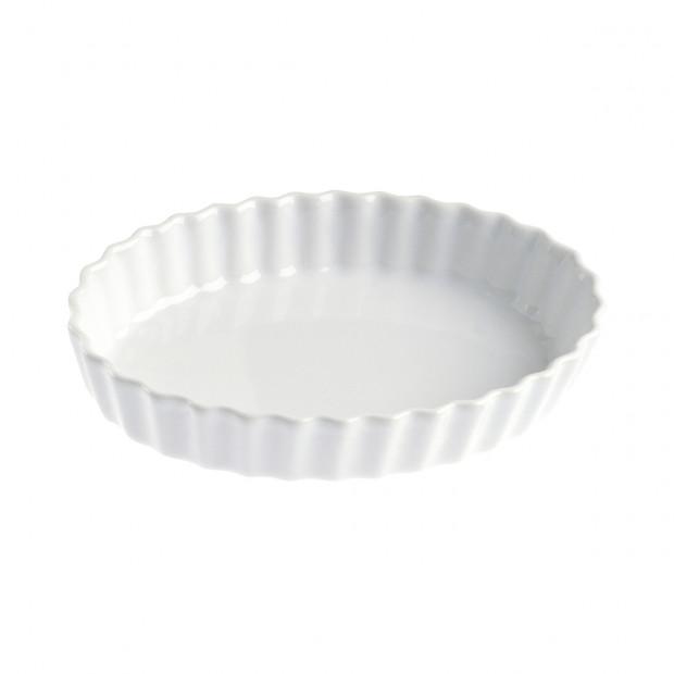 Tourtière ovale individuelle 15 cl - Blanc - 15 x 11 x 2,7 cm