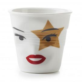 "cappuccino tumbler, decorated 6 1/4 oz ""mr and mrs rock star"" - Diam. 8.5 cm H. 8.5 cm"
