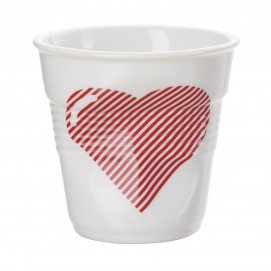 "espresso tumbler, decorated 2 3/4 oz ""Hearts"" - Diam. 6.5 cm H. 6 cm"