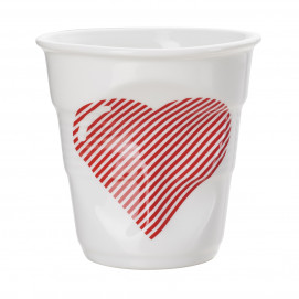 """Gobelet Cappuccino 18 cl - Décor """"Cœur"""" - Diam. 8,5 cm H. 8,5 cm"""