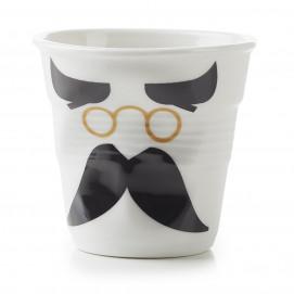 """Gobelet Cappuccino 18 cl - Décor """"Monsieur & Madame binocle"""" - Diam. 8,5 cm H. 8,5 cm"""