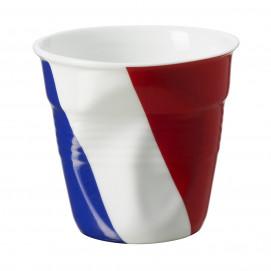 Gobelet Espresso 8 cl - Décor drapeau - Diam. 6,5 cm H. 6 cm