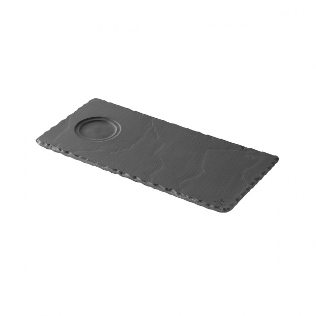 tray with indent for espresso and cappuccino - black