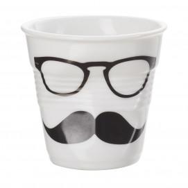 """espresso tumbler, decorated 2 3/4 oz """"mr and mrs"""" - Diam. 6.5 cm H. 6 cm"""