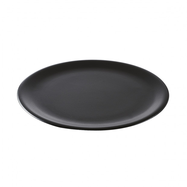round plate - black cast-iron effect - Diam. 35 cm H. 2 cm