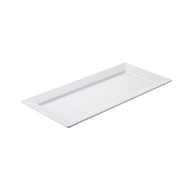 Plat rectangulaire - Blanc - 46,5 x 22 x 2,5 cm