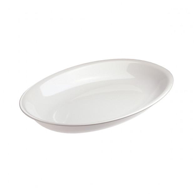 Plat ovale à servir - Blanc - 50 x 35 x 6,5 cm