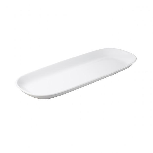 Plat ovale - Blanc - 54 x 21 x 3,5 cm