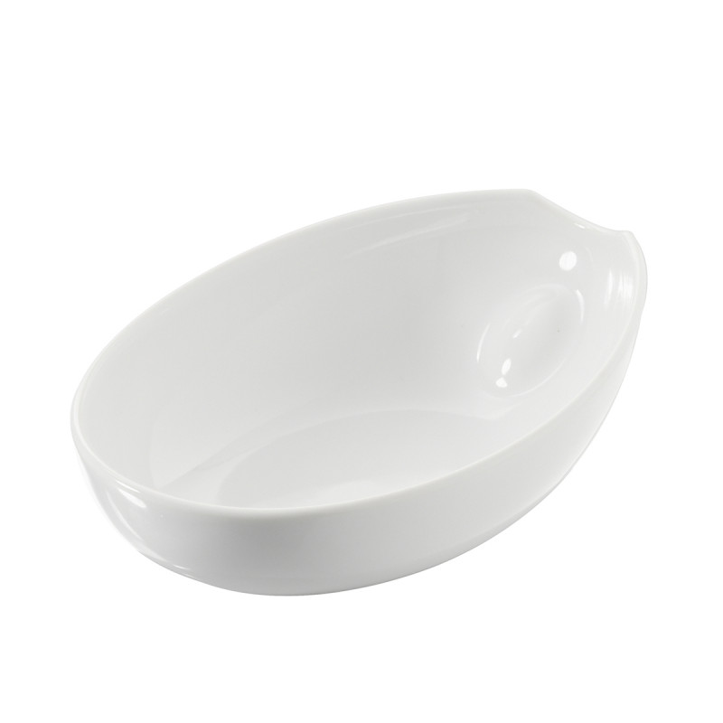White Porcelain Oval Dish