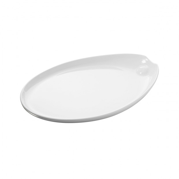 Assiette ovale - Blanc - 32,5 x 22 x 3,2 cm