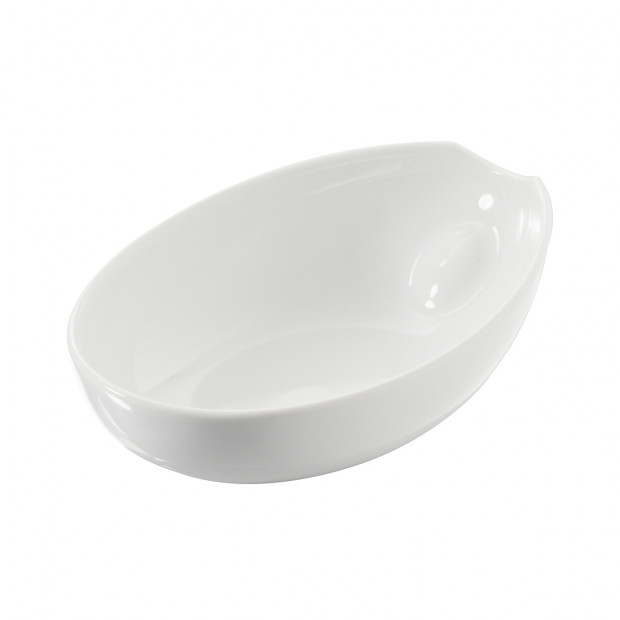 Assiette à salade/pâte - Blanc - 25 x 18 x 7,2 cm