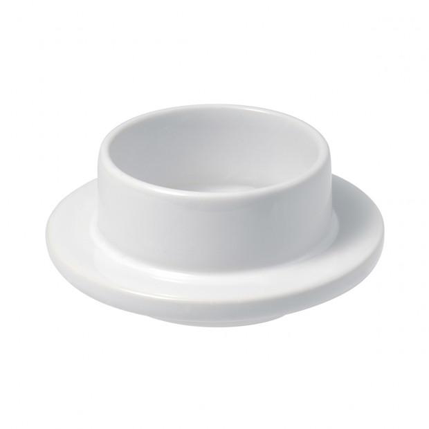 Beurrier 7 cl - Blanc - Diam. 9 cm H. 3,5 cm