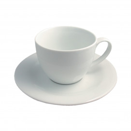 Tasse et sous-tasse Déjeuner ALASKA - Blanc - Diam. 19,5 cm H. 9,5 cm