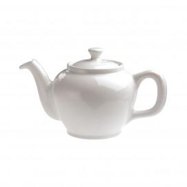 round teapot - white - Diam. 10.7 cm H. 11 cm