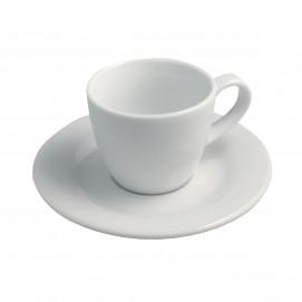 mocha cup & saucer Alaska - white - Diam. 12 cm H. 6.5 cm