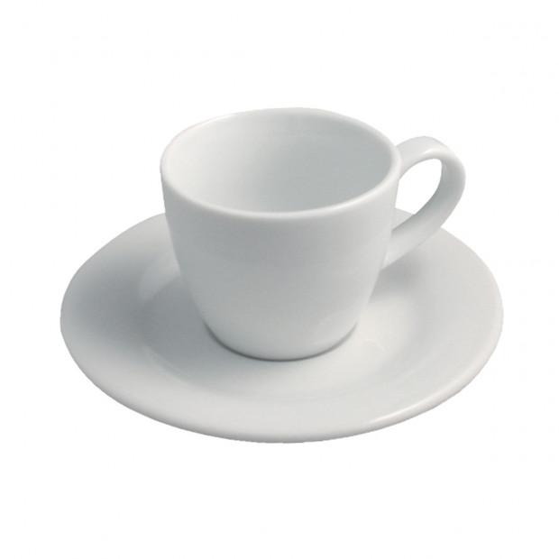 Tasse et sous-tasse Moka basse Alaska - Blanc - Diam. 12 cm H. 6,5 cm