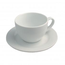 Tasse et sous-tasse Cappuccino ALASKA - Blanc - Diam. 15,5 cm H. 7,5 cm