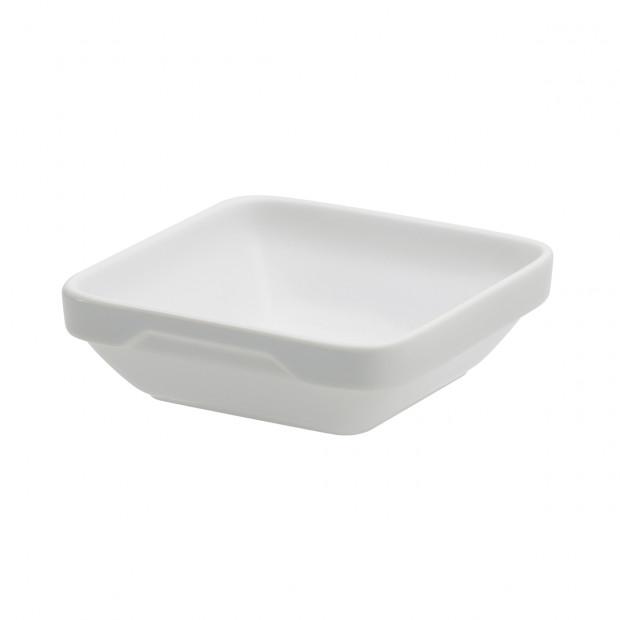 Ravier carré Londres - Blanc - 11,3 x 11,3 x 3,6 cm