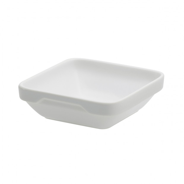 square shallow-dish - white - 11.3 x 11.3 x 3.6 cm