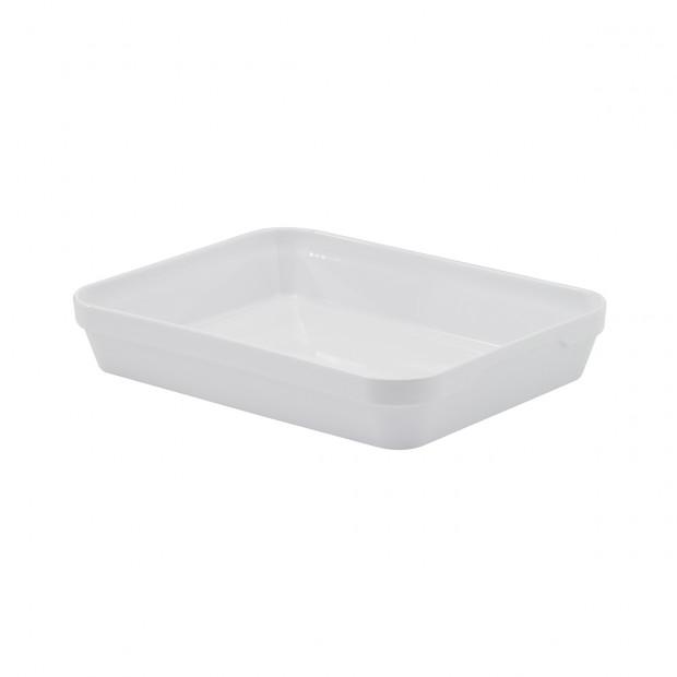rectangular dish extra deep - white