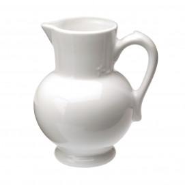 Pichet à eau 1 L - Blanc - Diam. 13 cm H. 19 cm