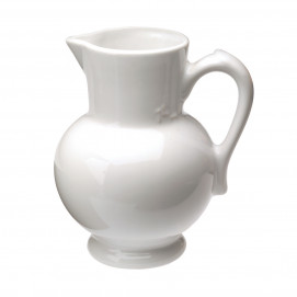 water jug - white - Diam. 13 cm H. 19 cm