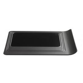 Assiette plateau carré - Noir effet fonte - 33 x 26 cm