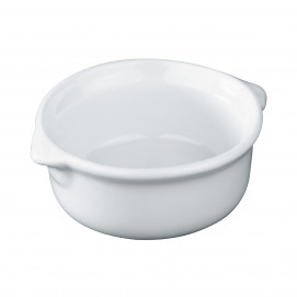 round eared casserole- white - Diam. 6.3 cm H. 3 cm