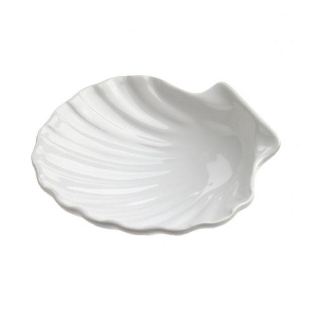 Mini coquille Saint-Jacques 2 cl - Blanc - Diam. 7 cm H. 2 cm