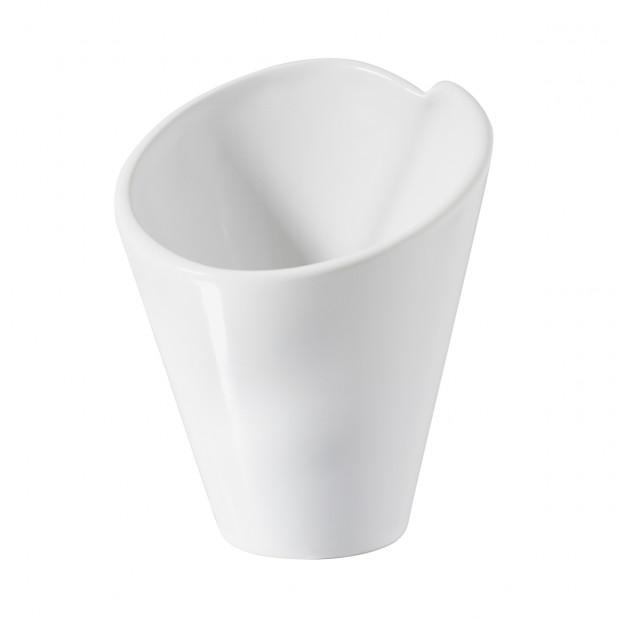 Mini cornet 5 cl - Blanc - Diam. 6 cm H. 6,5 cm